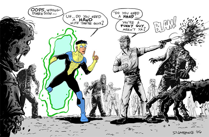 The Walking Dead (Comic) Invicible-meets-the-walking-dead