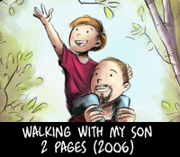 walking with my son