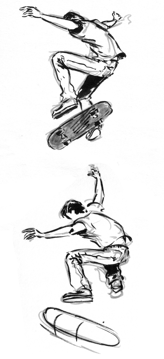 skateboard sketches